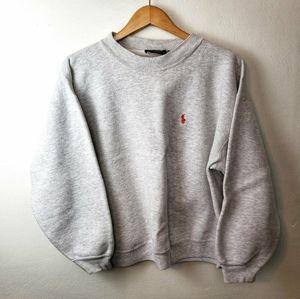 VINTAGE Polo Ralph Lauren Grey Pullover Sweatshirt